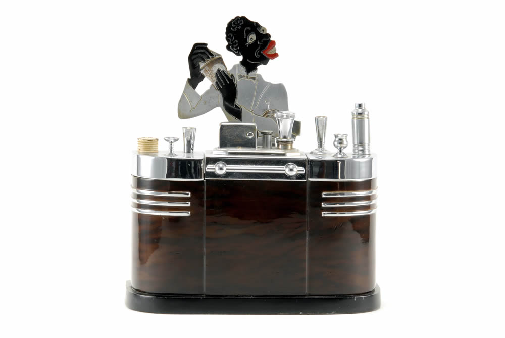 ronson touch tip black bartender art deco table cigarette lighter